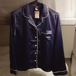 Night shirt, navy blue